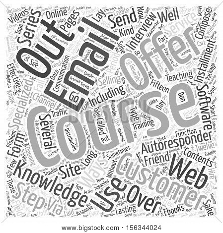 Selling and Teaching via Email word cloud concept