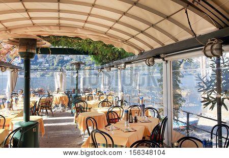Scenic view of Isola dei Pescatori on the Lago Maggiore, Northern Italy, Europe