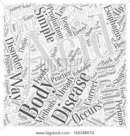 simple ways to stop acid reflux word cloud concept