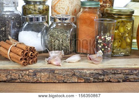 Pickles and spices.