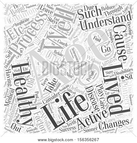 Success and Healthy Aging word cloud concept