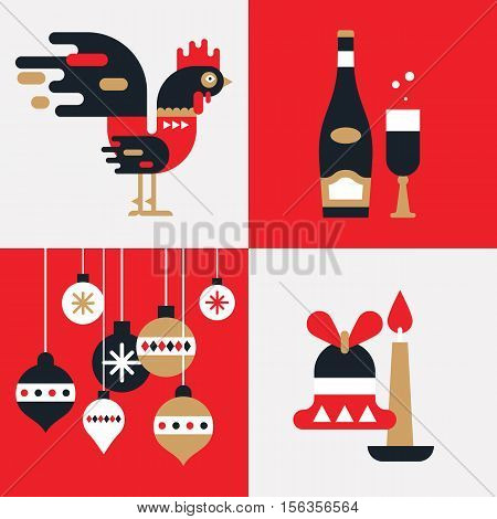 Rooster-flat-new-year _set