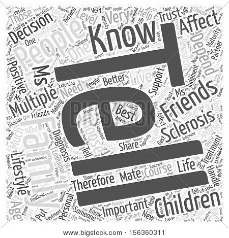 telling family and friends word cloud concept