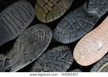 soled shoes texture equipment old background