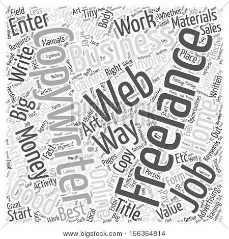 The Art of Freelance Copywriting word cloud concept