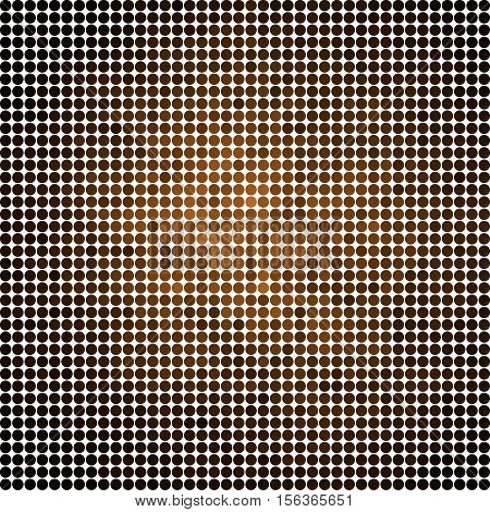 abstract vector colored round dots background - brown