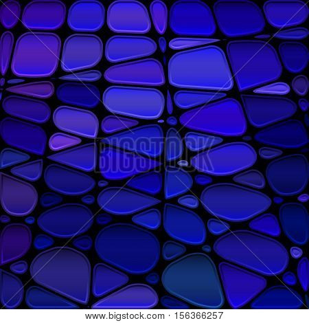 abstract vector stained-glass mosaic background - dark blue and violet