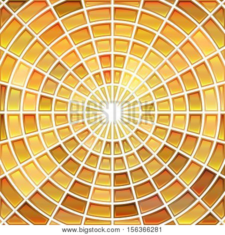 abstract vector stained-glass mosaic background - orange and beige