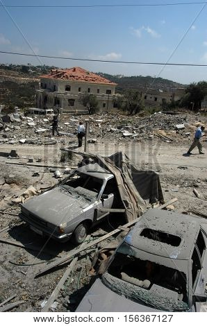 TYRE, LEBANON - JULY 31: Buildings destroyed by Israeli bombing in the city of Tyre on July 31, 2006, Beirut,Lebanon.