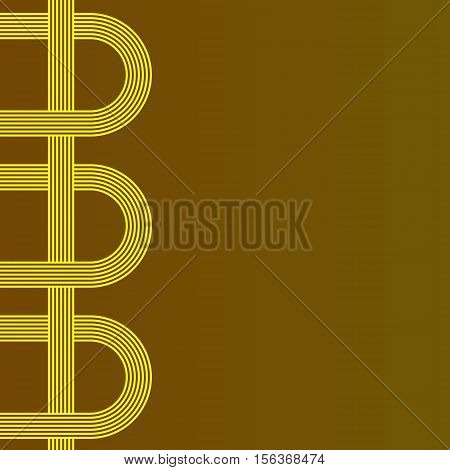 abstract vector background with stripes pattern - yellow