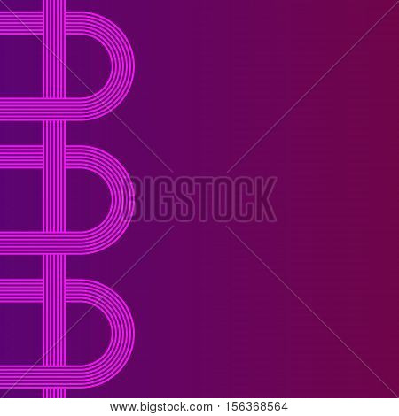 abstract vector background with stripes pattern - purple