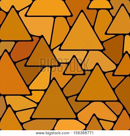 abstract vector stained-glass mosaic background - orange triangles