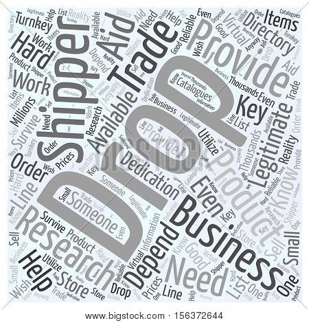 The Drop Shipper how they help the business word cloud concept