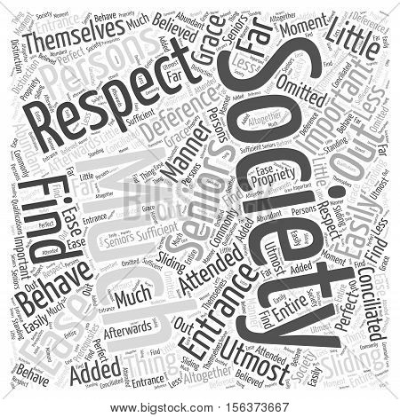 THE ENTRANCE INTO SOCIETY word cloud concept