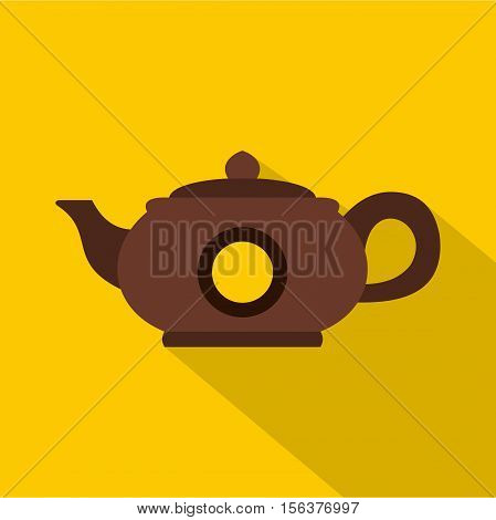 Teapot icon. Flat illustration of teapot vector icon for web design