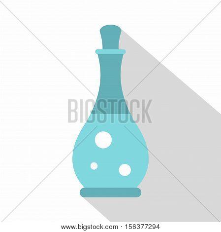 Massage oil icon. Flat illustration of massage oil vector icon for web design