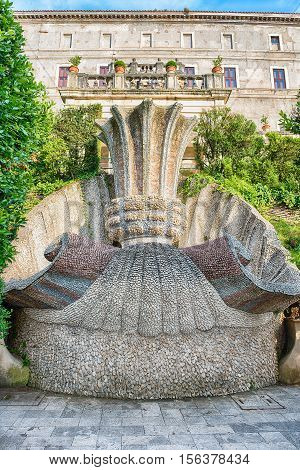 Inside Villa D'este, Tivoli, Italy