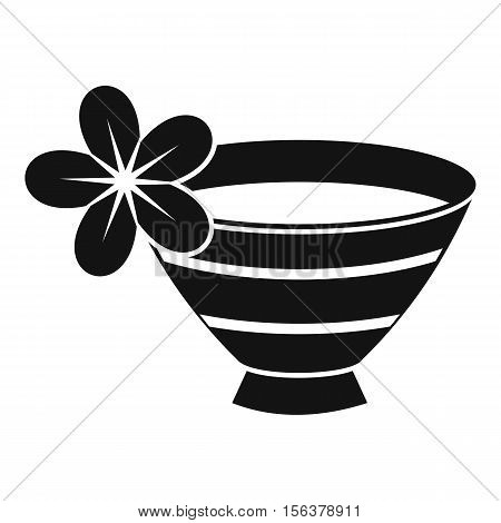 Bowl with water for spa icon. Simple illustration of water for spa vector icon for web design