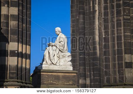 The Walter Scott Monument on Princess Street Edinburgh Scotland