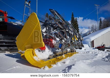 Ratrack on a skiing slope