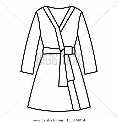 5c1e25a9c5 Bathrobe icon. Outline illustration of bathrobe vector icon for web design