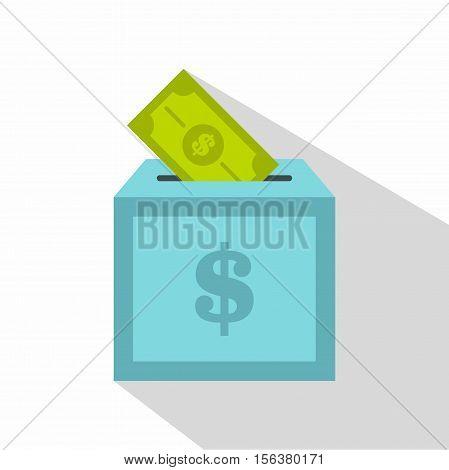 Donation box icon. Flat illustration of donation box vector icon for web design