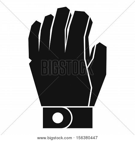 Hockey glove icon. Simple illustration of hockey glove vector icon for web