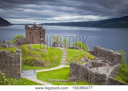 Ruins of Urquart Castle Loch Ness Scotland