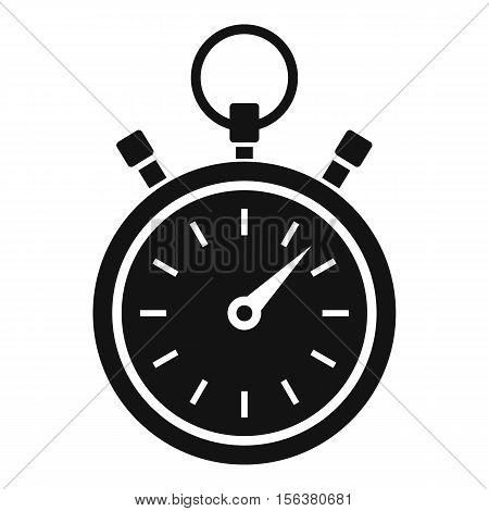 Stopwatch icon. Simple illustration of stopwatch vector icon for web