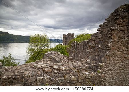 Ruins of Urquart Castle Loch Ness Scotland