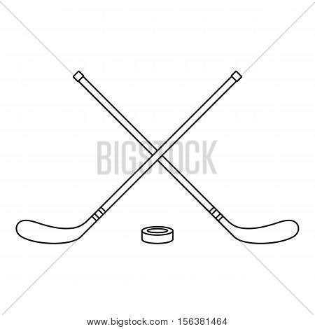 Hockey icon. Outline illustration of hockey vector icon for web