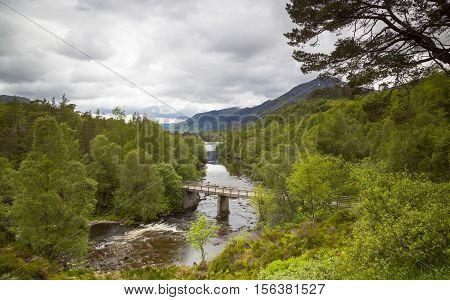 Glen Affric landscape In the Scottish highlands Scotland