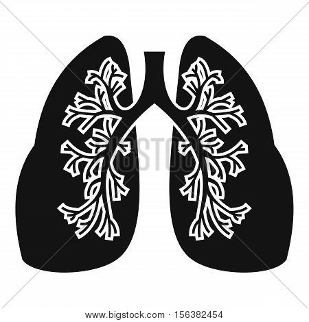 Lungs icon. Simple illustration of lungs vector icon for web