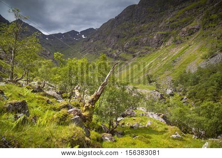 The Lost Valley in Glencoe Highlands Scotland