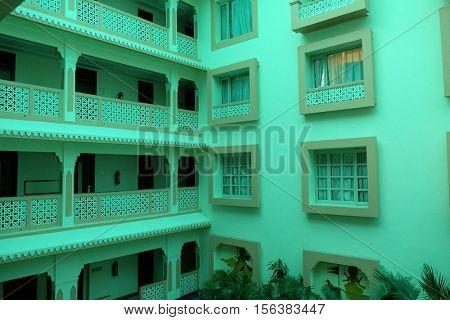 JAIPUR, INDIA - FEBRUARY 15: Park Regis Hotel in Jaipur, Rajasthan, India on February 15, 2016.