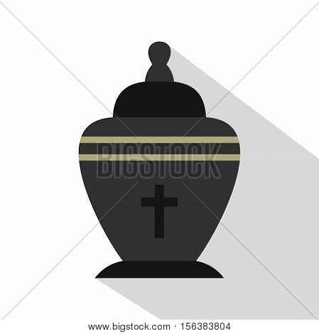 Urn icon. Flat illustration of urn vector icon for web