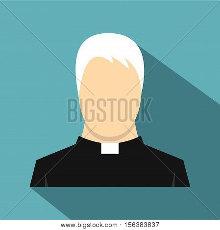 Priest icon. Flat illustration of priest vector icon for web