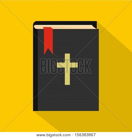 Bible icon. Flat illustration of bible vector icon for web