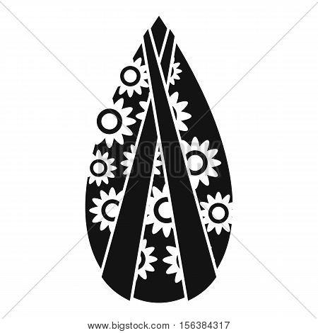 Memorial wreath icon. Simple illustration of memorial wreath vector icon for web