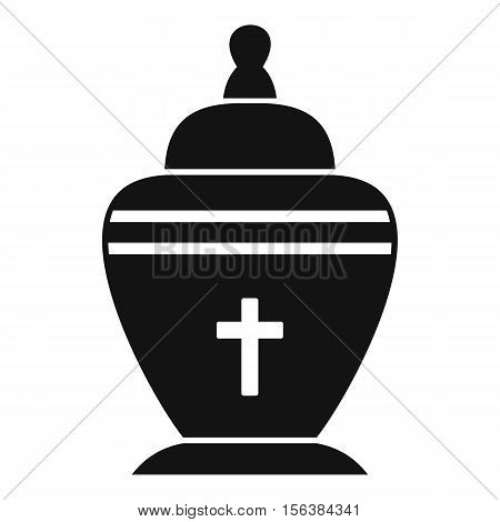 Urn icon. Simple illustration of urn vector icon for web
