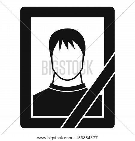 Memory portrait icon. Simple illustration of memory portrait vector icon for web