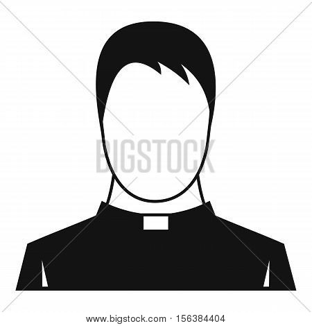 Priest icon. Simple illustration of priest vector icon for web