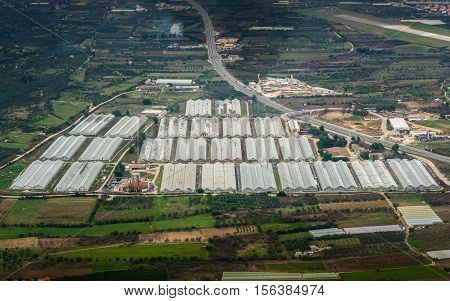 greenhouse farming and agriculture from the sky