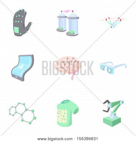 Innovative device icons set. Cartoon illustration of 9 innovative device vector icons for web