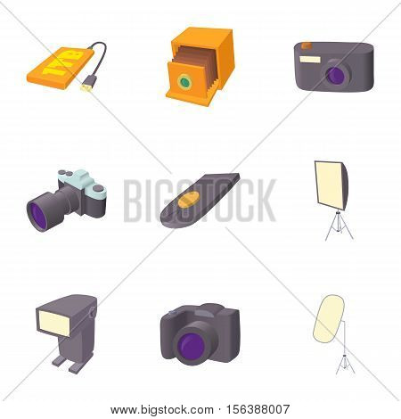 Photo icons set. Cartoon illustration of 9 photo vector icons for web