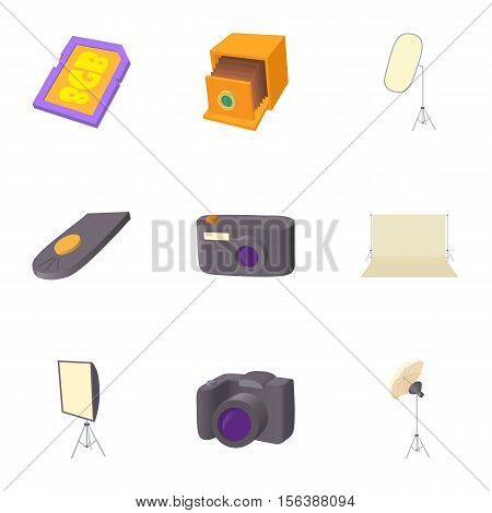 Taking photo icons set. Cartoon illustration of 9 taking photo vector icons for web