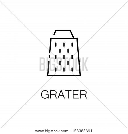 Grate flat icon. Single high quality outline symbol of kitchen equipment for web design or mobile app. Thin line signs of grater for design logo, visit card, etc. Outline pictogram of grater