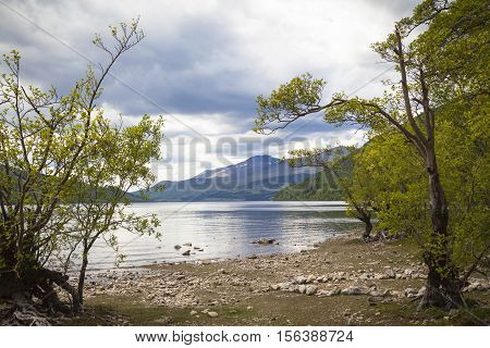 Clouds over Loch Tay in Perthshire Scotland