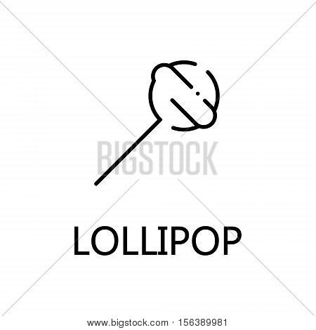 Lollipop flat icon. Single high quality outline symbol of sweets for web design or mobile app. Thin line signs of lollipop for design logo, visit card, etc. Outline pictogram of lollipop