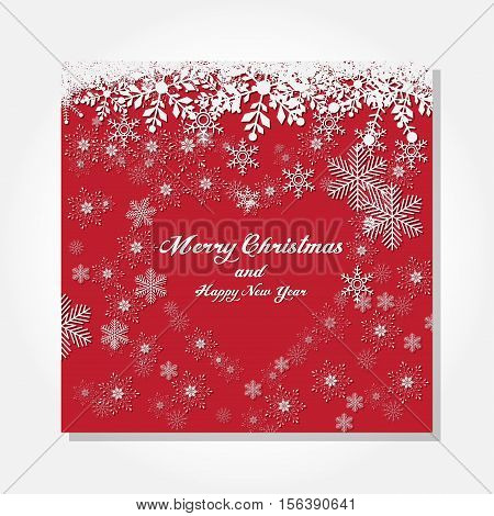 Xmas and new year Lovestruck Background With Snow fall